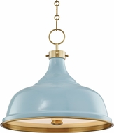 Hudson Valley MDS300-AGB-BB Painted No.1 Contemporary Aged Brass / Blue Bird Pendant Lighting
