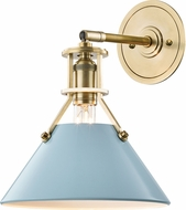 Hudson Valley MDS350-AGB-BB Painted No.2 Modern Aged Brass / Blue Bird Wall Sconce Lighting