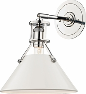 Hudson Valley MDS350-PN-OW Painted No.2 Contemporary Polished Nickel / Off White Wall Sconce Light