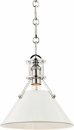 Hudson Valley MDS351-PN-OW Painted No.2 Contemporary Polished Nickel / Off White Mini Hanging Pendant Lighting