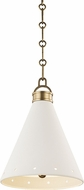 Hudson Valley MDS400-AGB-WP Plaster No.1 Modern Aged Brass / White Plaster Mini Ceiling Pendant Light
