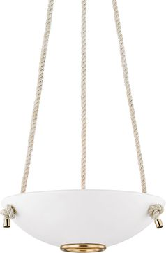 Hudson Valley MDS450-AGB-WP Plaster No.2 Contemporary Aged Brass / White Plaster 18 Pendant Lighting