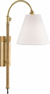 Hudson Valley MDS501-AGB Curves No.1 Aged Brass Wall Sconce