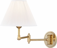Hudson Valley MDS603-AGB Signature No.1 Modern Aged Brass Wall Swing Arm Lamp