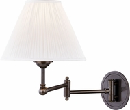 Hudson Valley MDS603-DB Signature No.1 Contemporary Distressed Bronze Swing Arm Wall Lamp