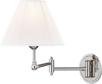Hudson Valley MDS603-PN Signature No.1 Modern Polished Nickel Wall Swing Arm Lamp