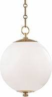 Hudson Valley MDS700-AGB Sphere No.1 Contemporary Aged Brass Mini Lighting Pendant