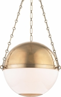 Hudson Valley MDS751-AGB Sphere No.2 Modern Aged Brass 20.5  Hanging Pendant Light