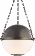 Hudson Valley MDS751-DB Sphere No.2 Contemporary Distressed Bronze 20.5  Pendant Hanging Light