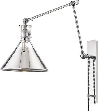 Hudson Valley MDS953-PN Metal No.2 Modern Polished Nickel Wall Swing Arm Lamp