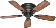 Hunter 51061 Low Profile IV Weathered Oak / Wine Country 42  Home Ceiling Fan