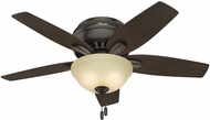 Hunter 51081 Newsome Low Profile Roasted Walnut / Yellow Walnut Fluorescent 42  Home Ceiling Fan
