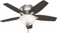 Hunter 51082 Newsome Low Profile Medium Walnut / Dark Walnut Fluorescent 42  Indoor Ceiling Fan
