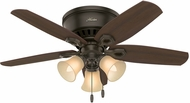Hunter 51091 Builder Low Profile Harvest Mahogany / Brazilian Cherry 42  Home Ceiling Fan