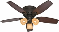 Hunter 52086 Hatherton Roasted Walnut / Yellow Walnut 46  Ceiling Fan