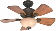 Hunter 52090 Watson Cabin Home / Walnut 34  Ceiling Fan