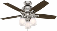 Hunter 52230 Donegan Three Light Dark Walnut / Distressed Oak LED 44  Home Ceiling Fan