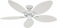 Hunter 50474 Bayview White Wicker / White Palm Leaf Interior / Exterior 54  Home Ceiling Fan