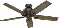 Hunter 54167 Donegan Damp Grey Pine / Sienna Oak Interior / Exterior 52  Ceiling Fan