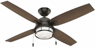 Hunter 59214 Ocala Roasted Maple / Washed Walnut LED Indoor / Outdoor 52  Home Ceiling Fan
