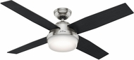 Hunter 59216 Dempsey with Light Black Oak / Chocolate Oak LED 52  Ceiling Fan
