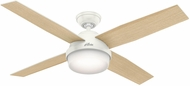 Hunter 59217 Dempsey with Light Fresh White / Blonde Oak LED 52  Home Ceiling Fan