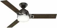 Hunter 59219 Leoni Dark Walnut / Black Oak LED 48  Indoor Ceiling Fan