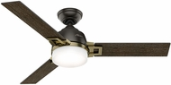 Hunter 59220 Leoni Dark Walnut / Black Oak LED 48  Ceiling Fan