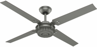 Hunter 59236 Chronicle Modern Matte Silver / Walnut Indoor / Outdoor 54  Home Ceiling Fan