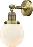Innovations 203-AB-G201-6 Franklin Restoration Beacon Contemporary Antique Brass Wall Sconce