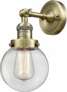 Innovations 203-AB-G202-6-LED Franklin Restoration Beacon Contemporary Antique Brass LED Sconce Lighting
