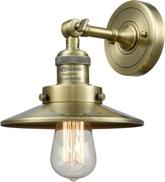 Innovations 203-AB-M4 Railroad Modern Antique Brass Wall Sconce
