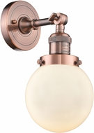 Innovations 203-AC-G201-6-LED Franklin Restoration Beacon Contemporary Antique Copper LED Wall Sconce Lighting