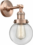 Innovations 203-AC-G202-6-LED Franklin Restoration Beacon Contemporary Antique Copper LED Lighting Wall Sconce