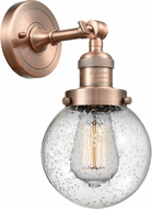 Innovations 203-AC-G204-6 Franklin Restoration Beacon Contemporary Antique Copper Wall Lighting Sconce