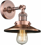 Innovations 203-AC-M3 Railroad Contemporary Antique Copper Wall Lamp