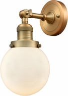 Innovations 203-BB-G201-6 Franklin Restoration Beacon Contemporary Brushed Brass Wall Lamp