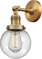 Innovations 203-BB-G204-6-LED Franklin Restoration Beacon Contemporary Brushed Brass LED Lamp Sconce