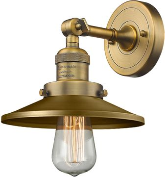 Innovations 203-BB-M4 Railroad Modern Brushed Brass Wall Lighting