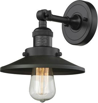 Innovations 203-BK-M6 Railroad Contemporary Matte Black Sconce Lighting
