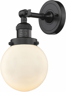 Innovations 203-OB-G201-6 Franklin Restoration Beacon Contemporary Oil Rubbed Bronze Wall Sconce Light