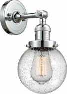 Innovations 203-PC-G204-6 Franklin Restoration Beacon Contemporary Polished Chrome Lighting Wall Sconce