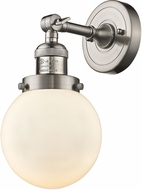 Innovations 203-SN-G201-6-LED Franklin Restoration Beacon Contemporary Brushed Satin Nickel LED Wall Sconce Lighting