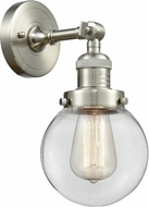 Innovations 203-SN-G202-6-LED Franklin Restoration Beacon Contemporary Brushed Satin Nickel LED Lighting Wall Sconce