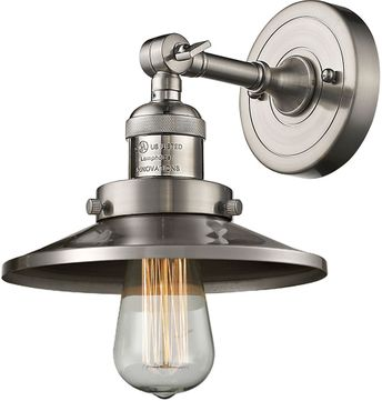 Innovations 203-SN-M2 Railroad Contemporary Brushed Satin Nickel Wall Sconce Lighting