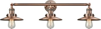 Innovations 205-AC-S-M3 Railroad Contemporary Antique Copper 3-Light Bathroom Lighting