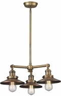 Innovations 207-BB-M4 Railroad Modern Brushed Brass Mini Chandelier Lighting