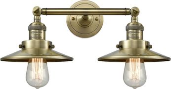 Innovations 208-AB-M4 Railroad Modern Antique Brass 2-Light Bath Lighting Fixture