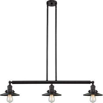 Innovations 213-OB-S-M5 Railroad Contemporary Oil Rubbed Bronze Island Lighting
