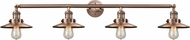 Innovations 215-AC-S-M3 Railroad Modern Antique Copper 4-Light Bath Wall Sconce